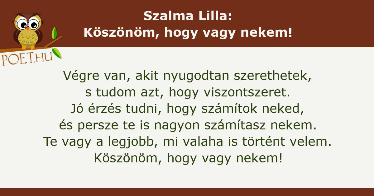 köszönöm tudni)